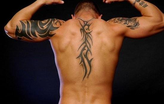 dessin tatouage dos homme tribal | kolorisse developpement